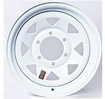 White Painted Trailer Rims