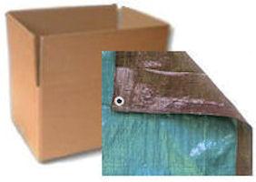 Brown / Green Tarps - CASE LOTS