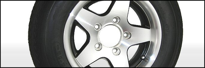 Aluminum Trailer Wheels with Tires