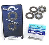 Axle Spindle Nuts, Washers & Cotter Pins