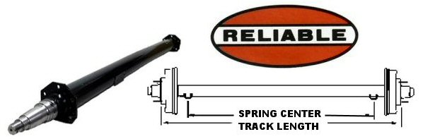 5200 lb. Round Tube Trailer Axles