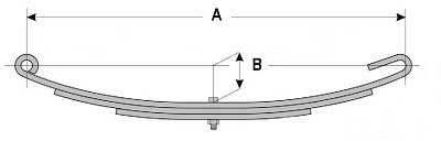 Open Eye Slipper Trailer Leaf Springs