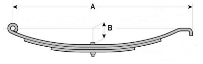 Hook End Slipper Trailer Leaf Springs