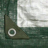 Green / Silver Poly Tarps
