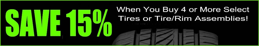 DISCOUNT 4-PACK TIRES & WHEELS