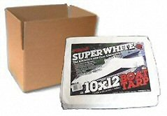 White Poly Tarps - CASE LOTS