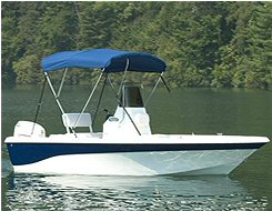 54 high x 73 to 78 wide Boat Bimini Tops