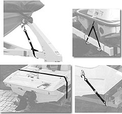 Boat Tie Down Straps: Gunwale, Transom & Bow