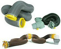 RV Sanitation Hoses, Valves, Adapters & Parts