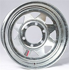 Galvanized Trailer Wheels  13, 14 & 15 inch diameter
