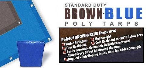 Brown/Blue Poly Tarps