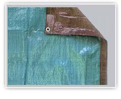 Brown / Green Poly Tarps