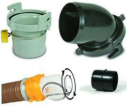 RV Sewer Hose Fittings & Connectors
