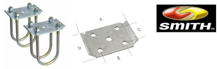 CE SMITH Tie Plate Kit for 2-3/8