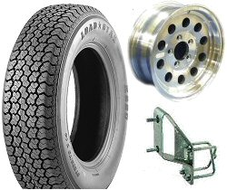 Boat Trailer Tires, Rims & Accessories