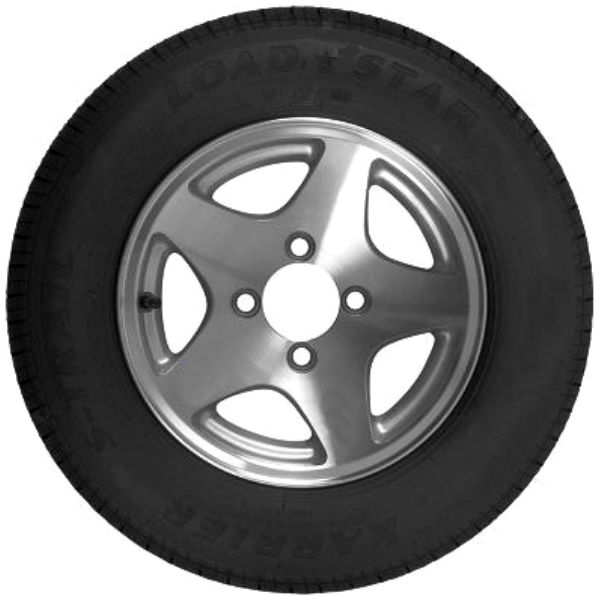 12 thru 14 inch Radial Trailer Tires with Aluminum Rim