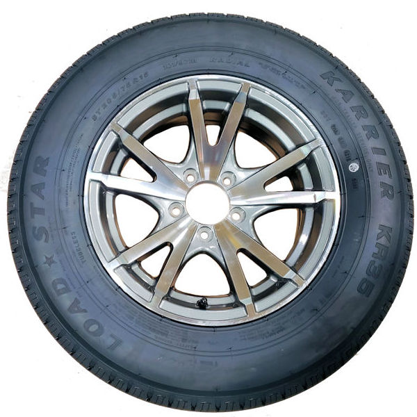 15 and 16 inch Radial Trailer Tires with Aluminum Rim