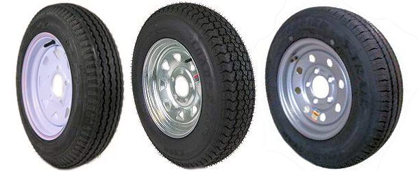 12 and 13 inch Bias Ply Tire and Rim Combos