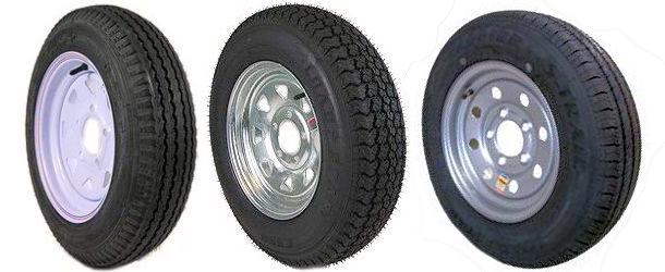 10 thru 14 inch Radial Trailer Tires with Steel Rim