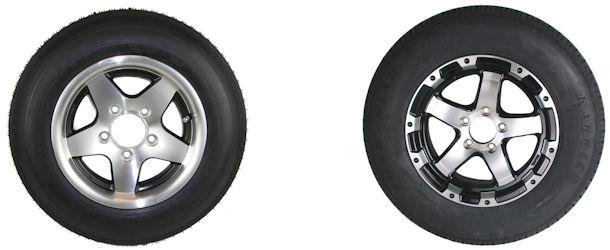 12 thru 14 inch Radial Trailer Tires with Aluminum Rim