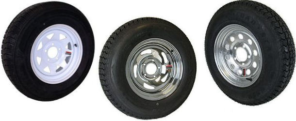 15 and 16 inch Radial Trailer Tires with Steel Rim