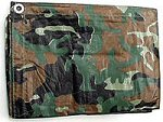 Camouflage Poly Tarps with 8 x 10 Fabric Weave
