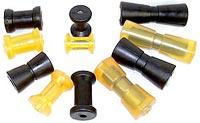 Boat Trailer Keel Rollers and Bump Pads