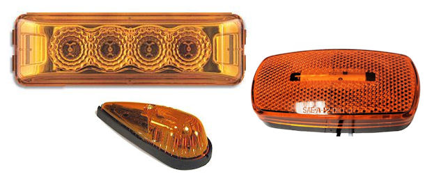 Amber Clearance Truck and Trailer Lights