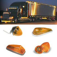 Amber Clearance Truck & Trailer Lights