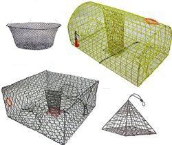 Crab Traps, Crab Pots  & Crabbing Rings