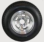 12 inch Trailer Tire with Aluminum Rim