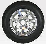 13, 14 and 15 inch Trailer Tire with Aluminum Rim