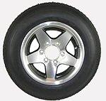 16 inch Radial Trailer Tire and Aluminum Rim
