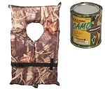 Camo PFD, Tarps, Rope and Paint
