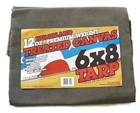 12 oz. Green Canvas Tarps