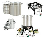 Crab Steamers, Stoves and Cooking Accessories