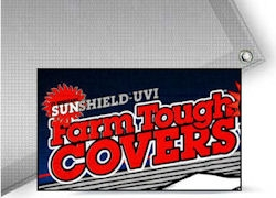 Farm Tough Silver/White Sunshield Poly Tarps