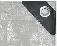 HD White Poly Tarps with 12 x 12 Fabric Weave