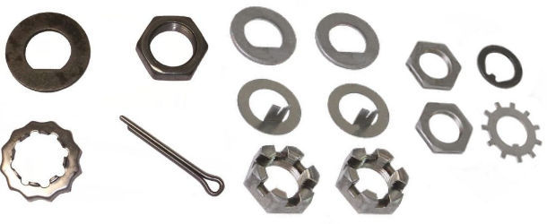 Axle Spindle Nuts, Washers and Hardware