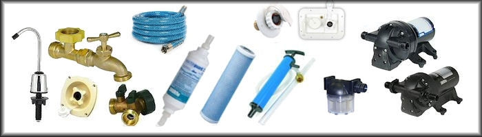 RV Fresh Water System Pumps and Fittings