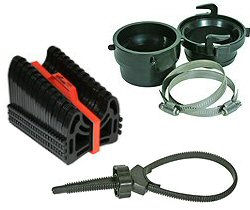 RV Sewer Hose Supports, Clamps, Caps & Vents
