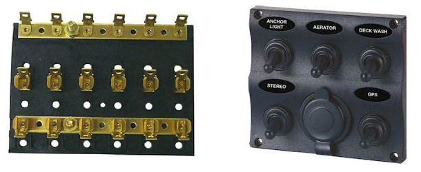 marine switches and fuse panels at eastern marine  trailer parts superstore