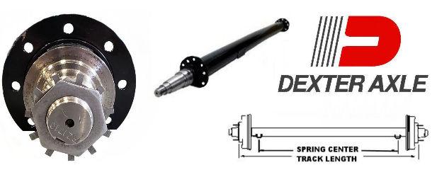 6k lb. - 10k lb. Capacity Round Tube Trailer Axles