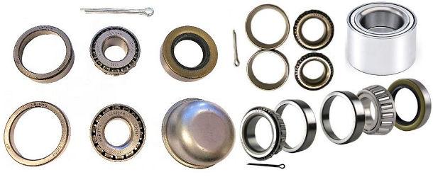 Trailer Wheel Bearings, Races and Bearing Kits