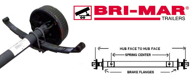 BRI-MAR Factory Replacement Trailer Axles