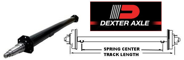 5200 lb. Capacity Round Tube Trailer Axles