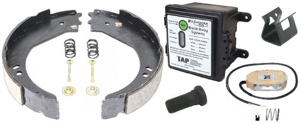 Electric Trailer Brake Parts And Breakaway Kits