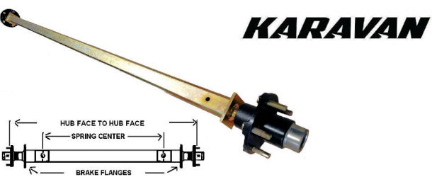 KARAVAN Factory Replacement Trailer Axles on