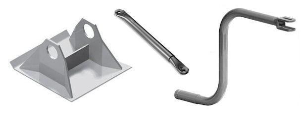 Semi - Flatbed Trailer Landing Gear Parts