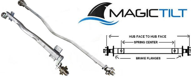 MAGIC TILT Factory Replacement Trailer Axles